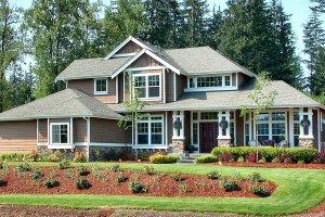 Craftsman Exterior - Front Elevation Plan #132-121