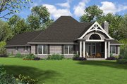 Craftsman Style House Plan - 3 Beds 3.5 Baths 2301 Sq/Ft Plan #48-959 Exterior - Rear Elevation