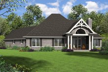 House Plan Design - Craftsman Exterior - Rear Elevation Plan #48-959