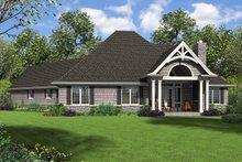 Architectural House Design - Craftsman Exterior - Rear Elevation Plan #48-959
