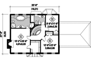 Colonial Style House Plan - 3 Beds 2 Baths 1838 Sq/Ft Plan #25-4853