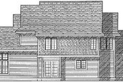 Traditional Style House Plan - 4 Beds 2.5 Baths 2367 Sq/Ft Plan #70-374 Exterior - Rear Elevation