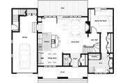 Craftsman Style House Plan - 4 Beds 3.5 Baths 2097 Sq/Ft Plan #492-5 Floor Plan - Main Floor Plan