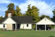 Ranch Style House Plan - 4 Beds 3 Baths 2474 Sq/Ft Plan #63-414 Exterior - Rear Elevation