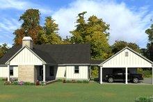 Dream House Plan - Ranch Exterior - Rear Elevation Plan #63-414