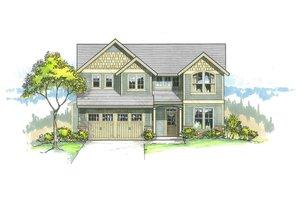 Craftsman Exterior - Front Elevation Plan #53-514