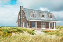 Dream House Plan - Colonial Exterior - Front Elevation Plan #497-49