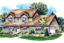 Architectural House Design - Country Exterior - Front Elevation Plan #18-288
