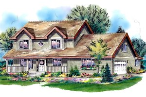 Country Exterior - Front Elevation Plan #18-288