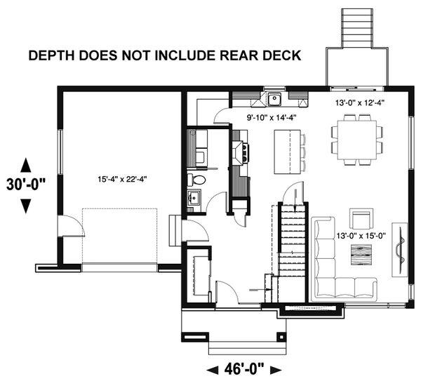 Contemporary Floor Plan - Main Floor Plan Plan #23-2644