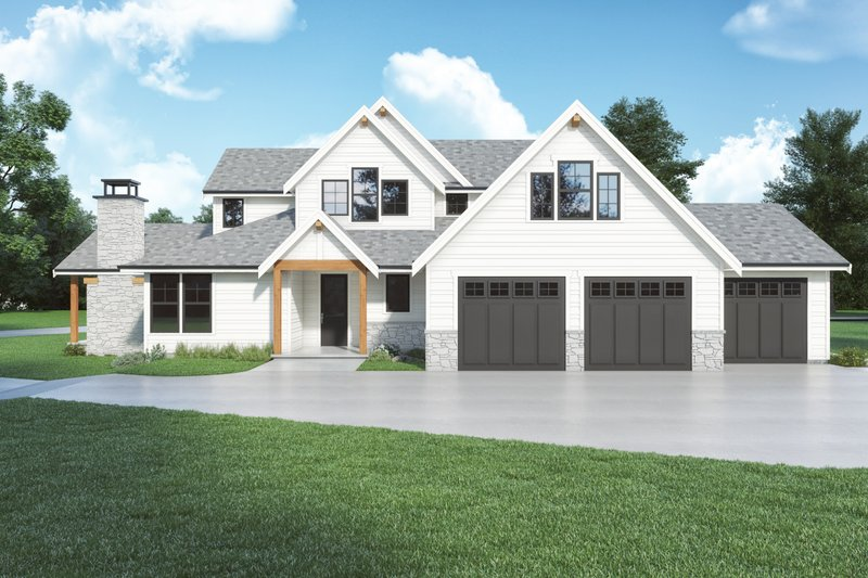Dream House Plan - Farmhouse Exterior - Front Elevation Plan #1070-139