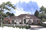 European Style House Plan - 4 Beds 3 Baths 2471 Sq/Ft Plan #37-109 Exterior - Front Elevation