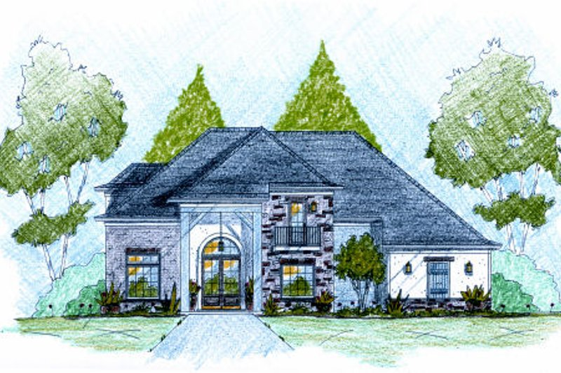 European Exterior - Front Elevation Plan #36-505