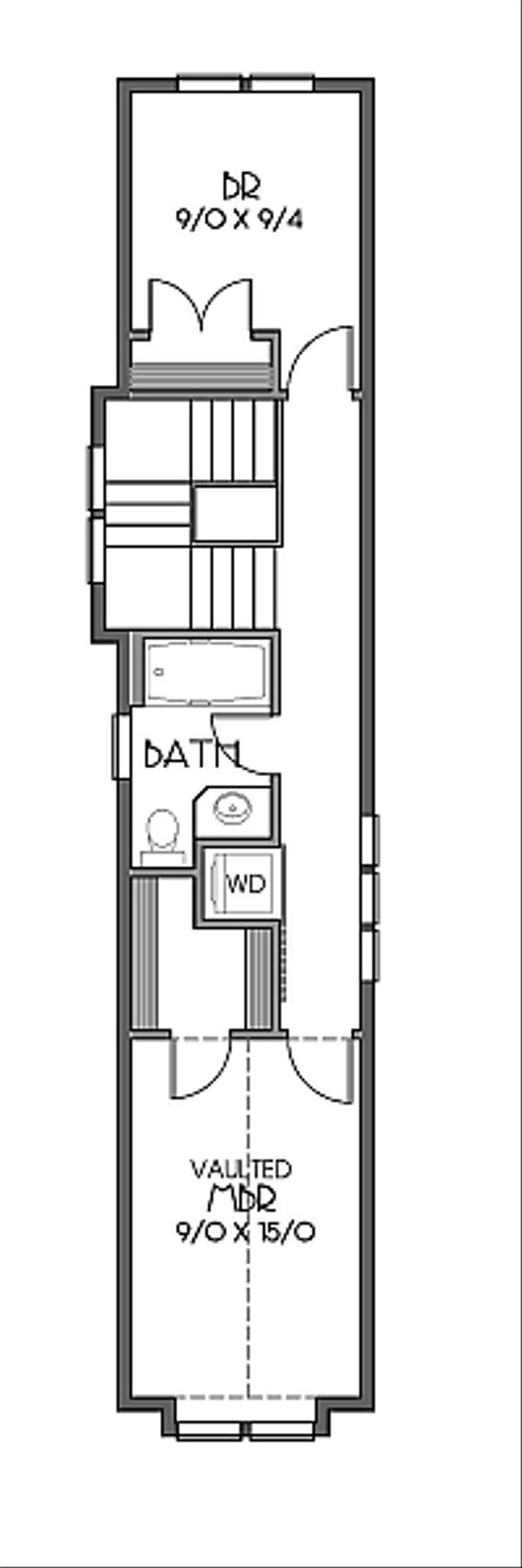 Bungalow Floor Plan - Upper Floor Plan #423-46