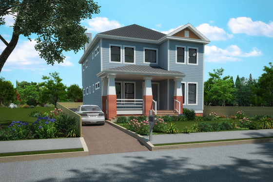Craftsman Exterior - Front Elevation Plan #30-350
