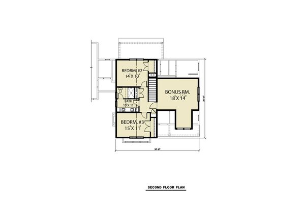 Farmhouse Floor Plan - Other Floor Plan Plan #1070-69