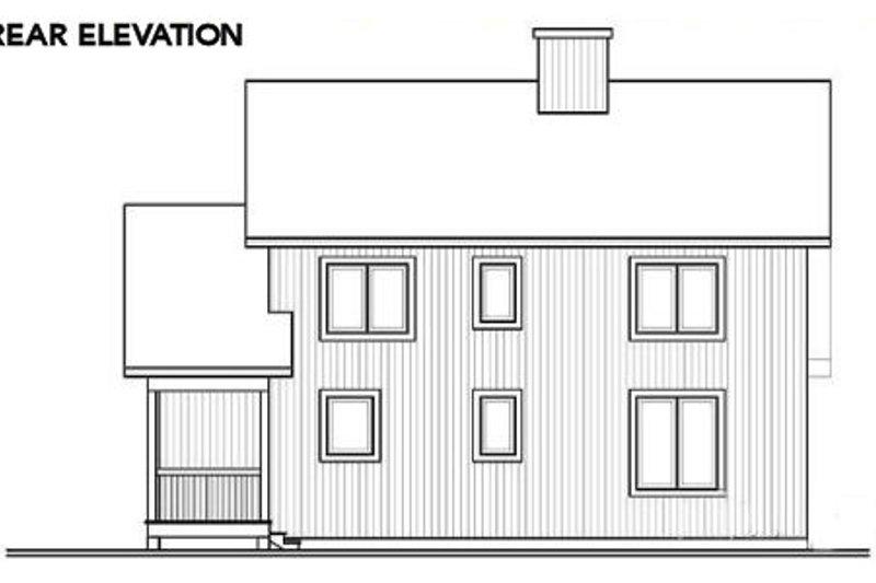 Exterior - Rear Elevation Plan #23-513 - Houseplans.com