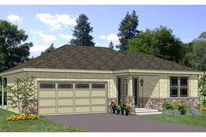 Ranch Exterior - Front Elevation Plan #116-279