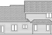 Colonial Style House Plan - 4 Beds 2.5 Baths 2448 Sq/Ft Plan #70-627 Exterior - Rear Elevation