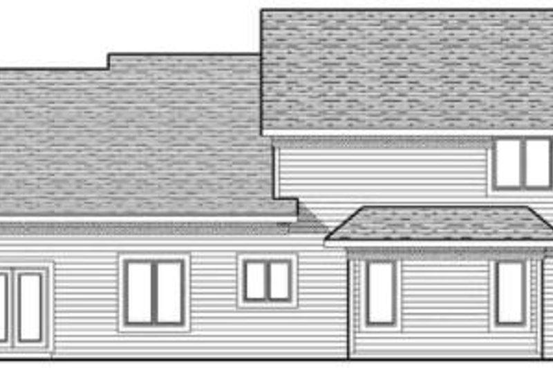 Colonial Exterior - Rear Elevation Plan #70-627 - Houseplans.com