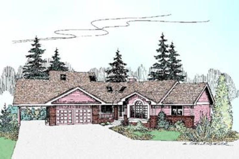 Traditional Exterior - Front Elevation Plan #60-231 - Houseplans.com