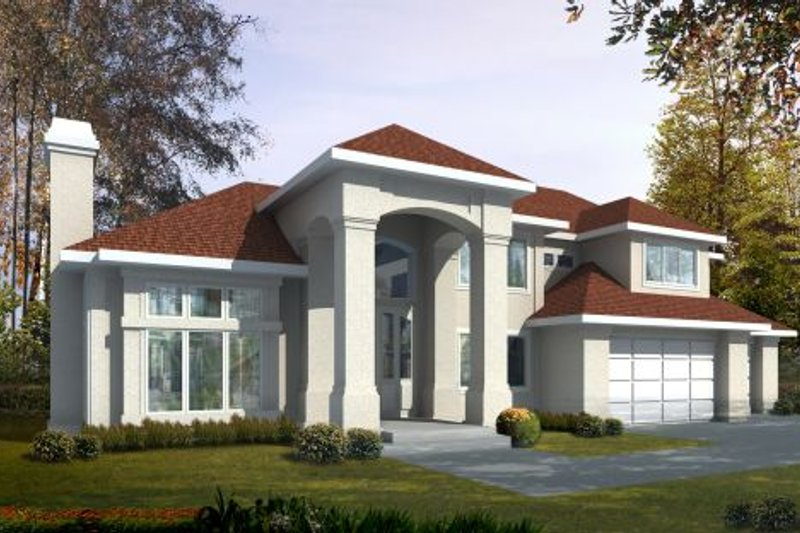 European Exterior - Front Elevation Plan #96-209