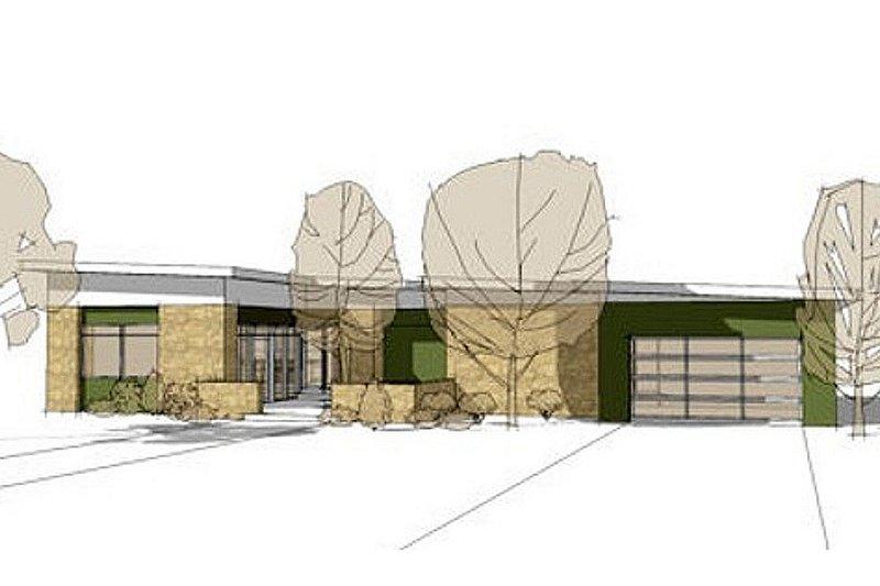 Contemporary Exterior - Front Elevation Plan #64-310 - Houseplans.com