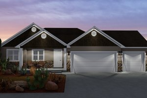 Home Plan - Ranch Exterior - Front Elevation Plan #1060-11