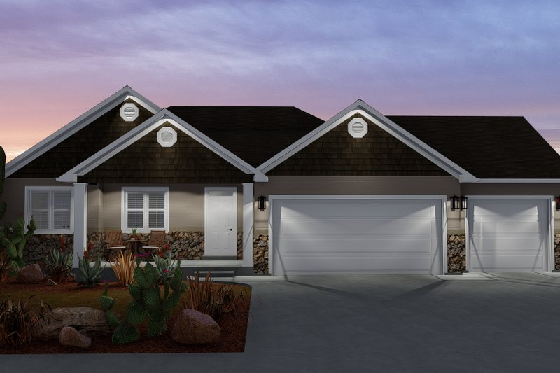 Dream House Plan - Ranch Exterior - Front Elevation Plan #1060-11