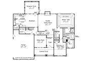 Craftsman Style House Plan - 4 Beds 3 Baths 2644 Sq/Ft Plan #927-25 Floor Plan - Main Floor