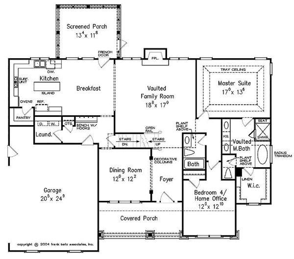 Craftsman Floor Plan - Main Floor Plan Plan #927-25