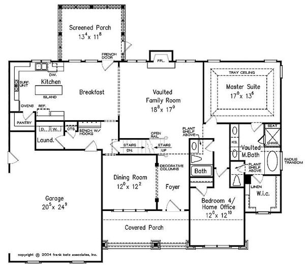 Craftsman Floor Plan - Main Floor Plan Plan #927-25