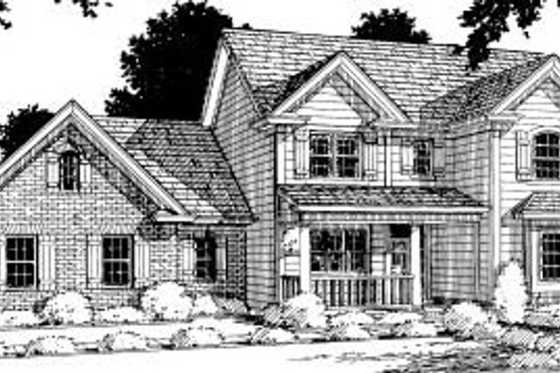 Traditional Exterior - Front Elevation Plan #20-308 - Houseplans.com