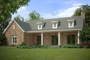 Country Exterior - Front Elevation Plan #472-11