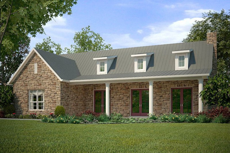 Country Style House Plan - 2 Beds 2 Baths 1588 Sq/Ft Plan #472-11 Exterior - Front Elevation