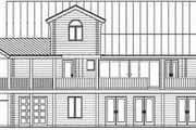 Log Style House Plan - 4 Beds 3 Baths 2808 Sq/Ft Plan #115-161 Exterior - Rear Elevation