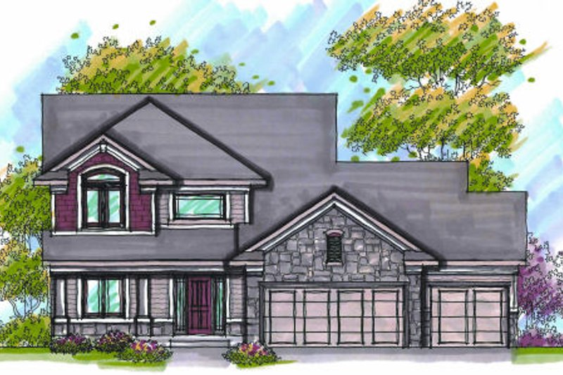 Traditional Exterior - Front Elevation Plan #70-950