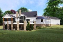 Farmhouse Exterior - Rear Elevation Plan #923-119