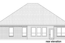 European Exterior - Rear Elevation Plan #84-567
