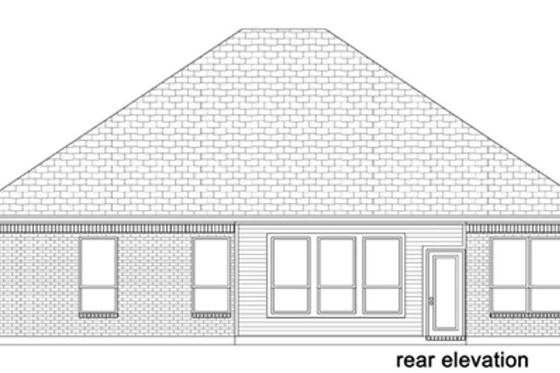 European Exterior - Rear Elevation Plan #84-567 - Houseplans.com