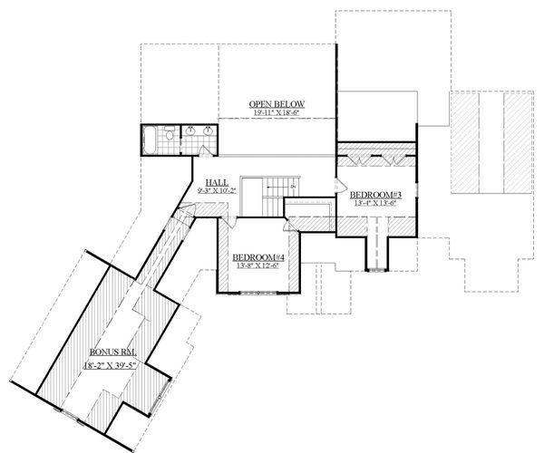 Farmhouse Floor Plan - Upper Floor Plan Plan #1071-5