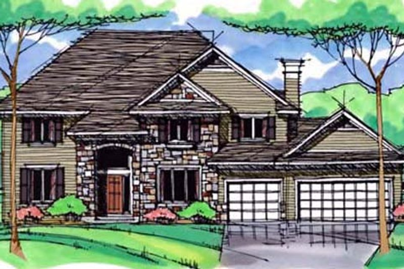 Traditional Exterior - Front Elevation Plan #51-395