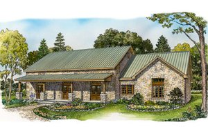 Ranch Exterior - Front Elevation Plan #140-153