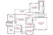 Traditional Style House Plan - 4 Beds 2.5 Baths 2432 Sq/Ft Plan #63-287 Floor Plan - Main Floor Plan