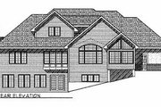 Modern Style House Plan - 4 Beds 2.5 Baths 2857 Sq/Ft Plan #70-459 Exterior - Rear Elevation