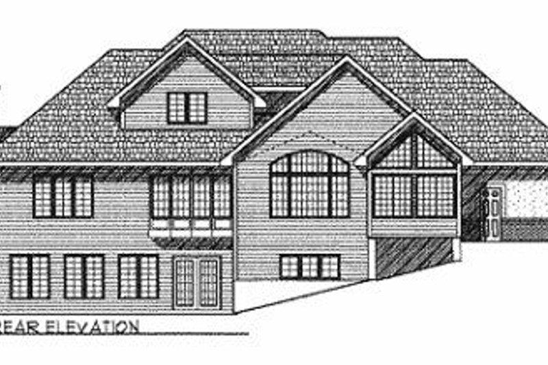 Modern Exterior - Rear Elevation Plan #70-459 - Houseplans.com