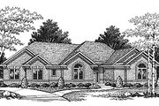 Traditional Style House Plan - 3 Beds 2.5 Baths 1801 Sq/Ft Plan #70-207 Exterior - Front Elevation