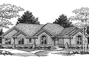 Traditional Exterior - Front Elevation Plan #70-207