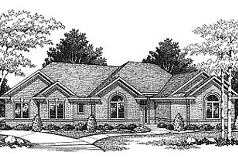 Traditional Exterior - Front Elevation Plan #70-207 - Houseplans.com