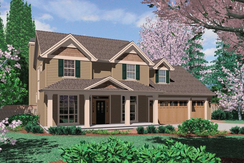 Home Plan - Traditional Exterior - Front Elevation Plan #48-393
